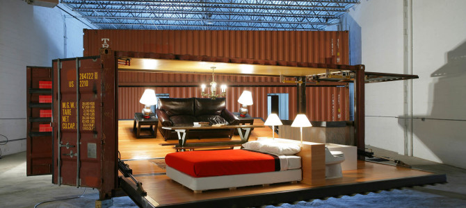 Turning to smaller compact living quarters; focus on shipping container houses