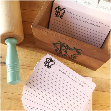Customized Recipe Boxes In Personalized By Kate Prionet Canada